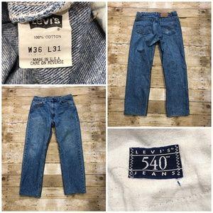 Levis 540 Mens High Waist Acid Wash Size Jeans USA